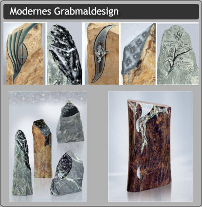 Modernes Grabmaldesign